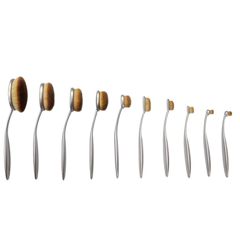 Aphrodite 10 Piece Oval Brush Set ,  - My Make-Up Brush Set, My Make-Up Brush Set  - 1