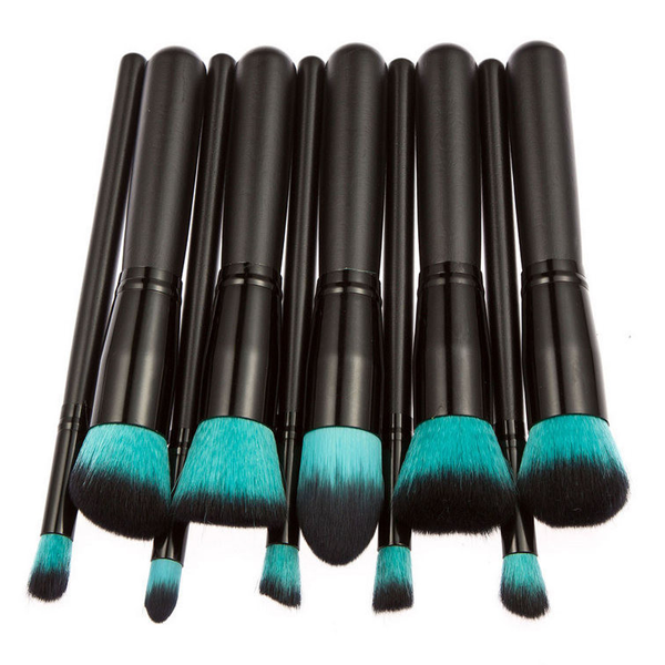 10 Piece Retro Black Brush Set