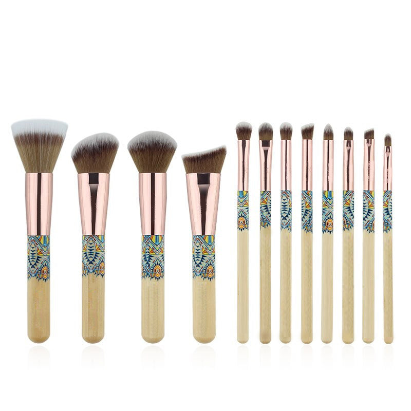 12 Piece Summertime Bamboo Brush Set