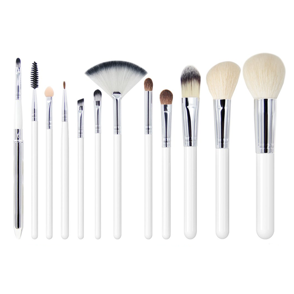12 Piece Traditional White Brush Set