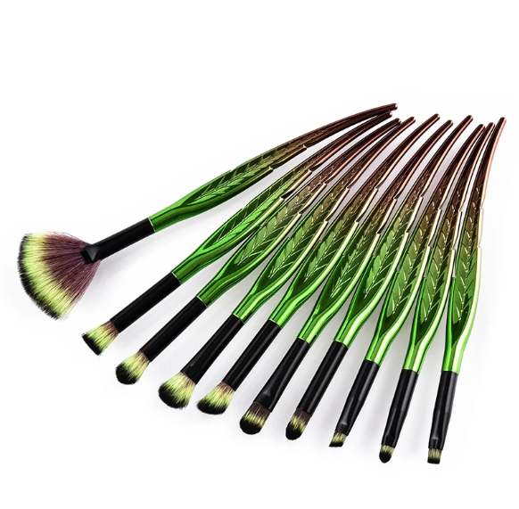 10 Piece Pure Leaf Brush Set