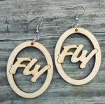 Fly (Wooden Earrings)