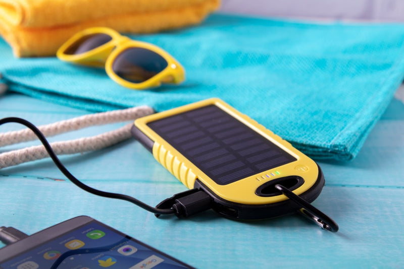 USB Power bank, 4000mAh, solarno polnjenje