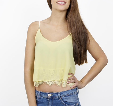 Top crop puntilla amarillo (+colores)