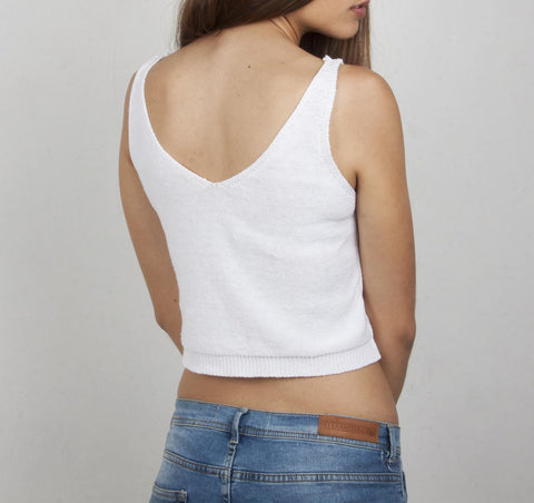 Crop top blanco