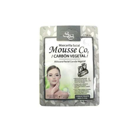 Mascarilla facial Mousse CO2 Carbón vegetal