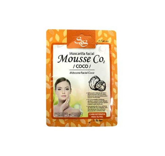 Mascarilla facial Mousse CO2 Coco