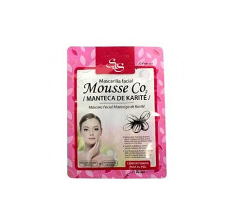 Mascarilla facial Mousse CO2 Manteca de karité