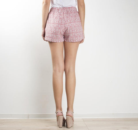Short estampado jacquard