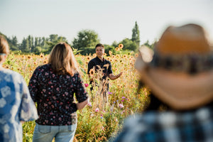 Midsummers Night Bouquet Workshop on a Wild Flower Farm - Sept 2