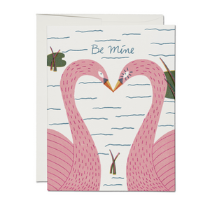 Be Mine - Pink Swan Foil Card