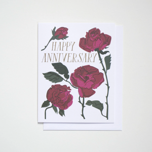 Happy Anniversary Rose Card