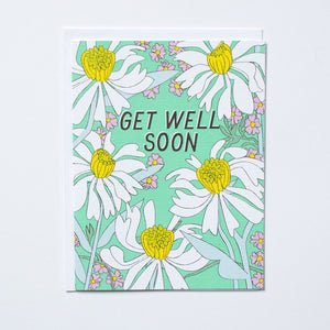 Get Well Soon - Daisies Note Card
