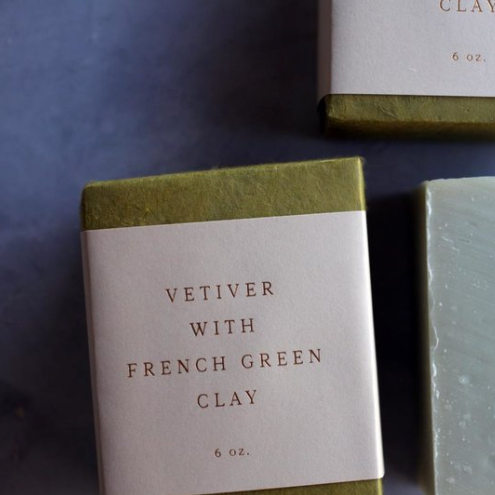 Vetiver Soap with French Green Clay