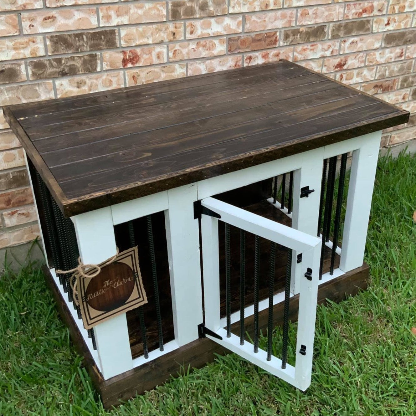 Picture of: Medium Large Kennel Table The Rustic Charm Tx