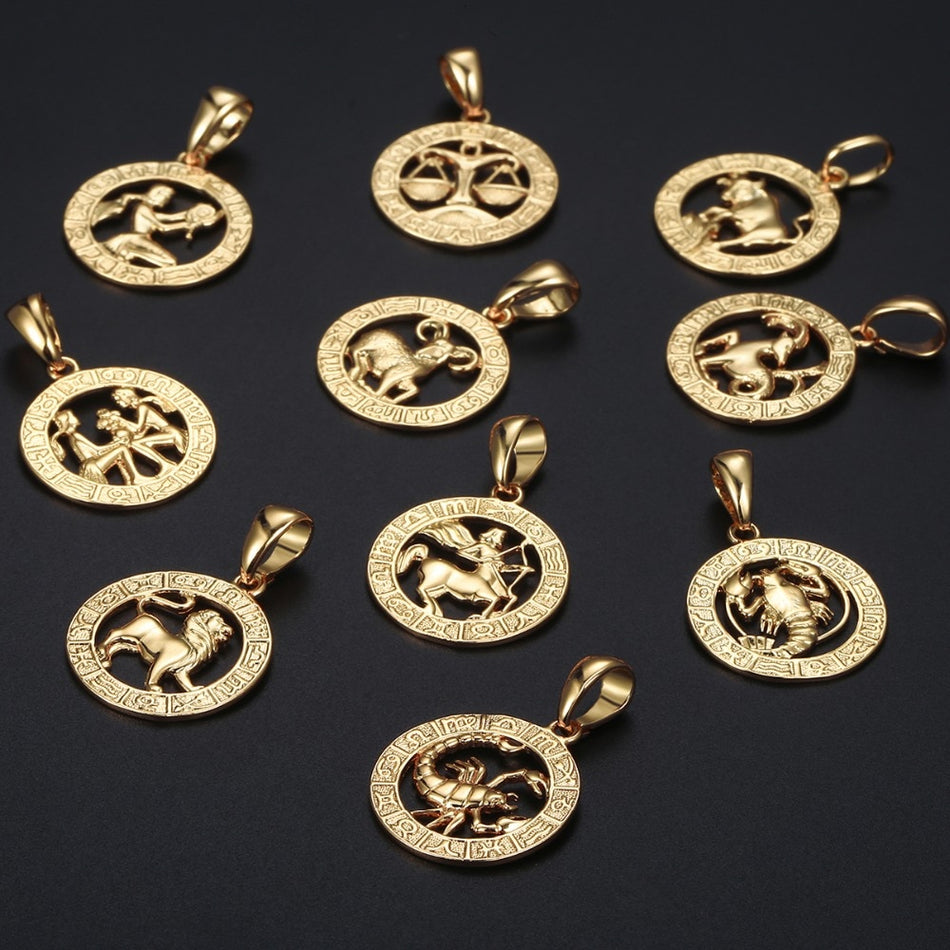 Horoscope Sign Gold Necklace