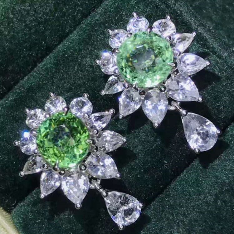 2.38ct Natural Paraiba Tourmaline 18k Gold Earrings