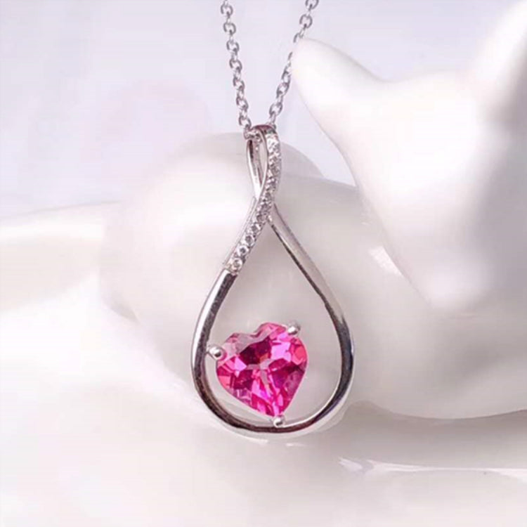 Awareness Fashion pendant 925 sterling silver 18k gold plated natural pink topaz pendant