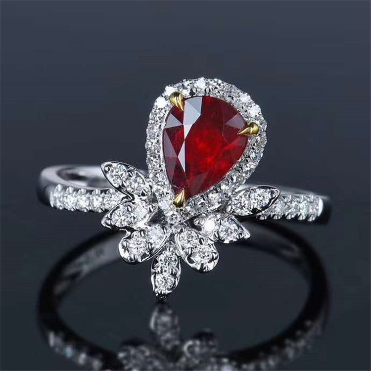 18k gold 1.11ct pigeon blood red unheated natural ruby ring
