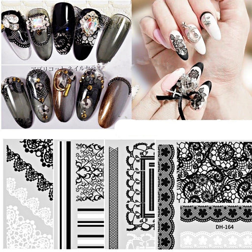 5Pcs Nail Decal Stickers Nail Art Decoration (Mix Style)