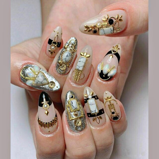 Gold Metal Slices 3D Nail Art Decoration