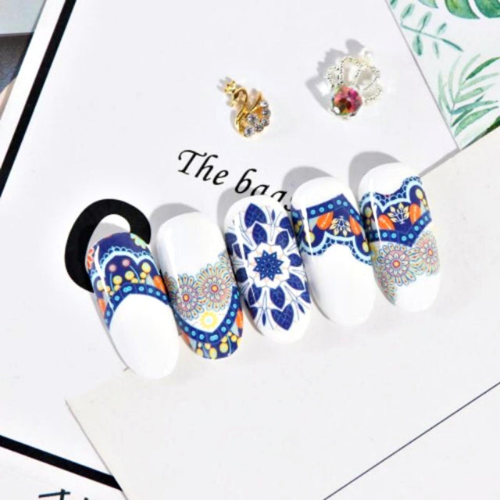 Set 8Pcs Foil Nail Transfer Foil Nail Art Design Sticker Decal