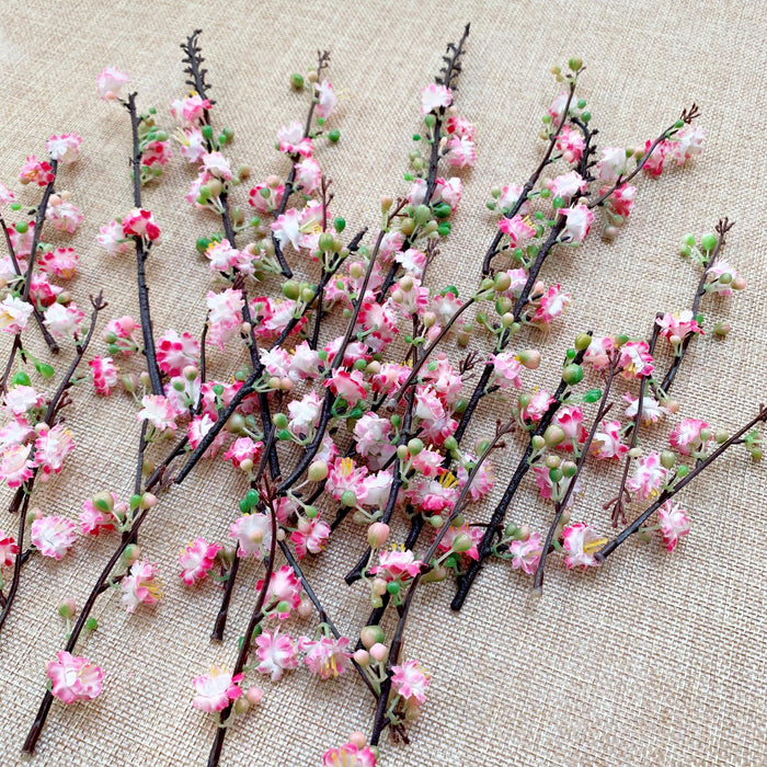 Artificial Pink/Yellow Sakura Cherry Blossom Branch