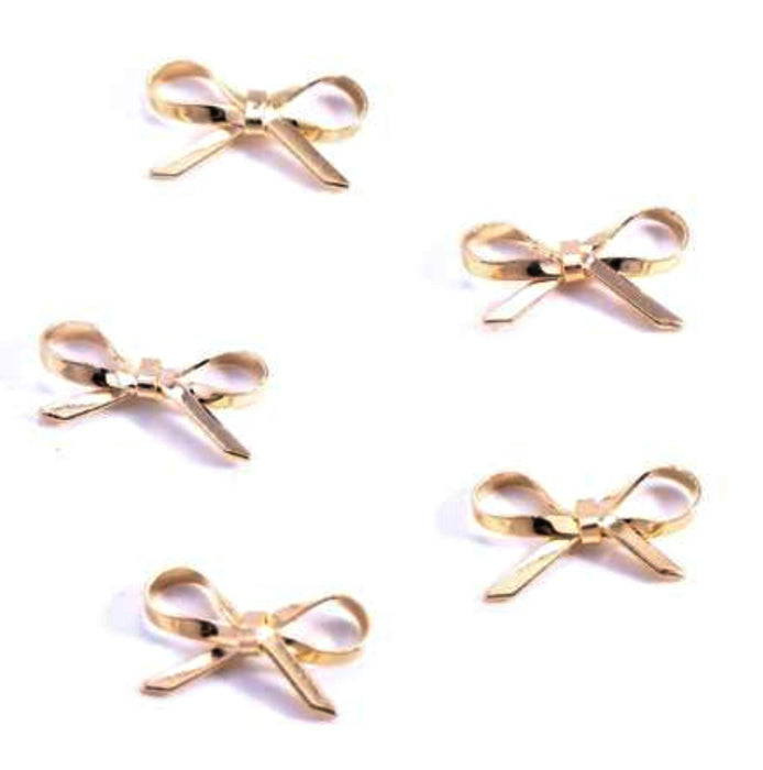 10pcs Nail Art 3D Charms Bow Deco Accessories
