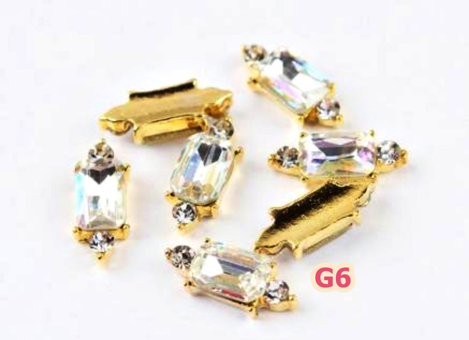 8Pcs/Lot Nail Art Decorations 3D Charm Crystal Strass Nail Jewelry Accessoires Rhinestones