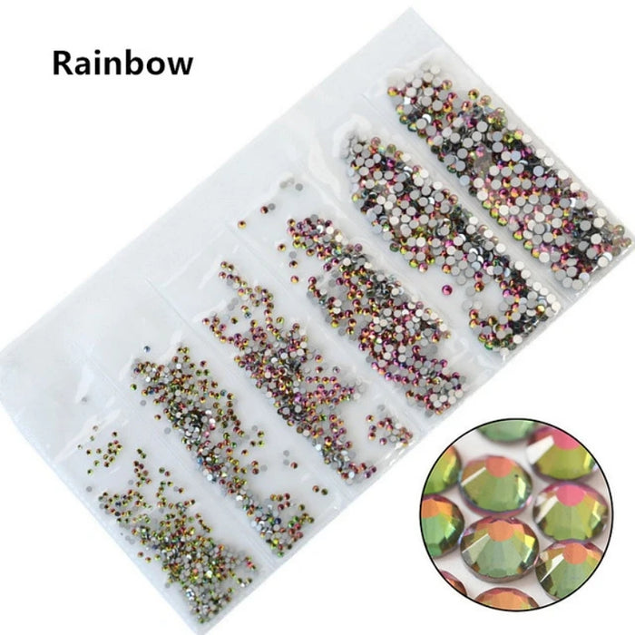 Nails Art Rhinestones SS4-SS18 Mix Sizes Crystal Glass Nails Art Rhinestones For 3D Nail Art Rhinestones Decoration Gems