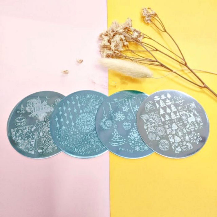 Set 4pcs Nail Art Stamping & 1pc Stamp Stamping Silicone Born Pretty Tools Manicure Decoration