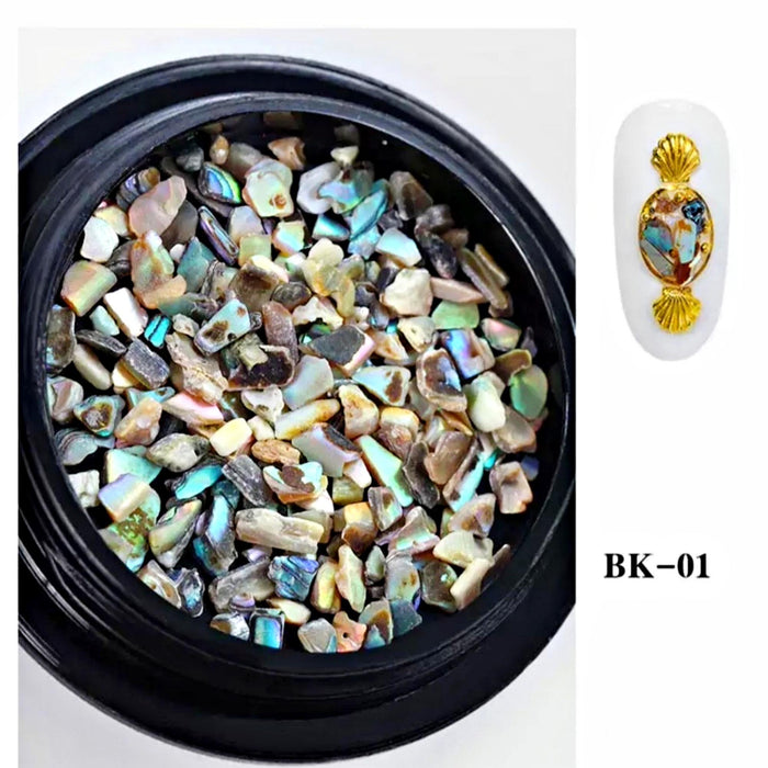 Set 6 Jar Nail Art Glitters