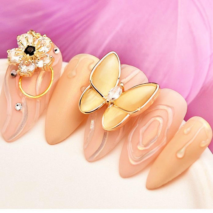 10Pcs Butterfly Charm 3D Nail Art Decorations Charm Pixie Jewelry Gem Manicure Design Accessories