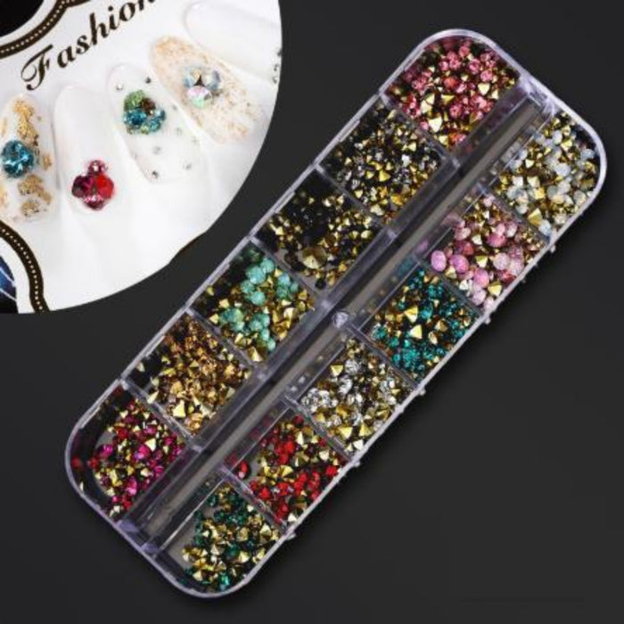 Set 5-500pcs Plastic 12 Separates Empty Case Box Nail Art Decoration Case