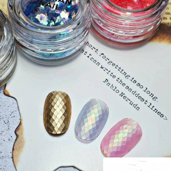 Set 6 Jars Glitter Nail Decoration