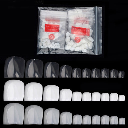 500Pcs False Fake Artificial Toe Nails Tips French Foot Tips Acrylic Professional Nail Art Decor Full Cover Toenails Manicure