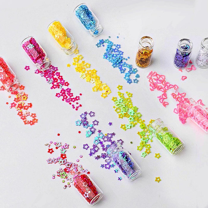 Artlalic 48 Bottles Nail Art Rhinestones Beads Sequins Glitter Tips Decoration Tool Gel Nail Stickers Mixed Design Case Set
