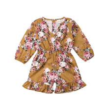 Load image into Gallery viewer, Infant Toddlers Girl Floral Romper Long 3Y