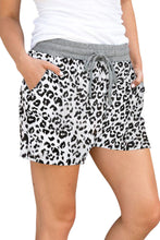 Load image into Gallery viewer, Casual White Leopard Print Drawstring Waist Women Shorts