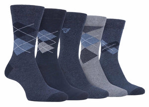 Mens Classic Cotton Dress Socks 5 Pack