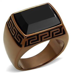 Men Stainless Steel Synthetic Onyx Rings TK3014