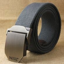 Load image into Gallery viewer, Unisex Tactical Belt Top Quality 4 Mm Thick 3.8 Cm Wide Casual Canvas Belt Outdoor Alloy Automatic Buckle Men Belt 110-140cm