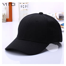 Load image into Gallery viewer, Black Cap Solid Color Baseball Cap Snapback Caps Casquette Hats Fitted Casual Gorras Hip Hop Dad Hats For Men Women Unisex