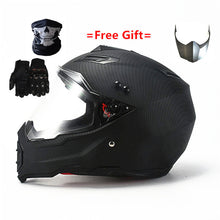 Load image into Gallery viewer, Mate black Dual Sport Off Road Motorcycle helmet Dirt Bike ATV D.O.T certified (M, Blue) full face casco for moto sport