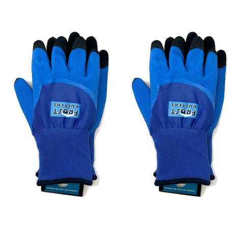2-Pack Frost Busters Thermo Blue Latex Winter Waterproof Gloves