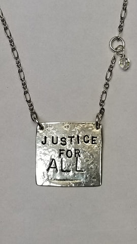 Justice For All sterling necklace