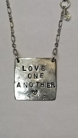 Love One Another sterling necklace