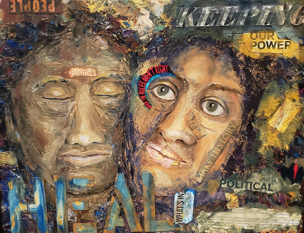"""Healing Our Power"" Oil Painting and Mixed Media by Mindy Yanish"