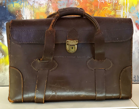 Pilot's  Bag 1948 Seaboard and Western Airlines