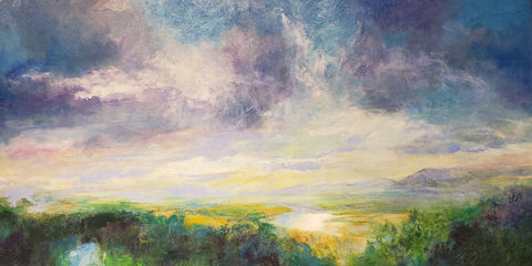 Church's View 20x40 oil on canvas by Catherine Wagner Minnery